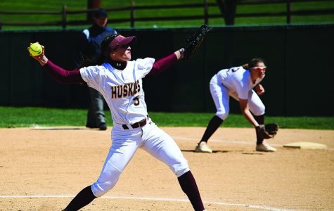 Abby Wild is seen pitching this past Saturday against Indiana University of Pennsylvania. The Sophomore pitcher pitched six innings of shutout ball.