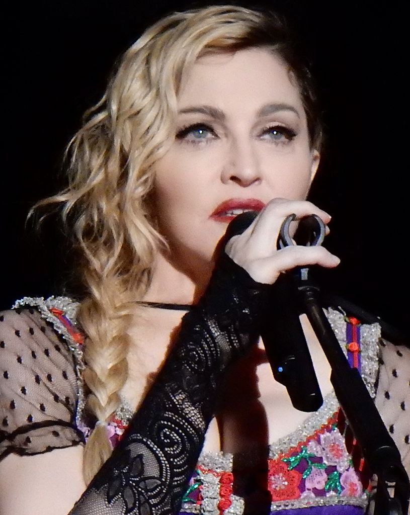 Madonna during her Rebel Heart Tour, 2015.
