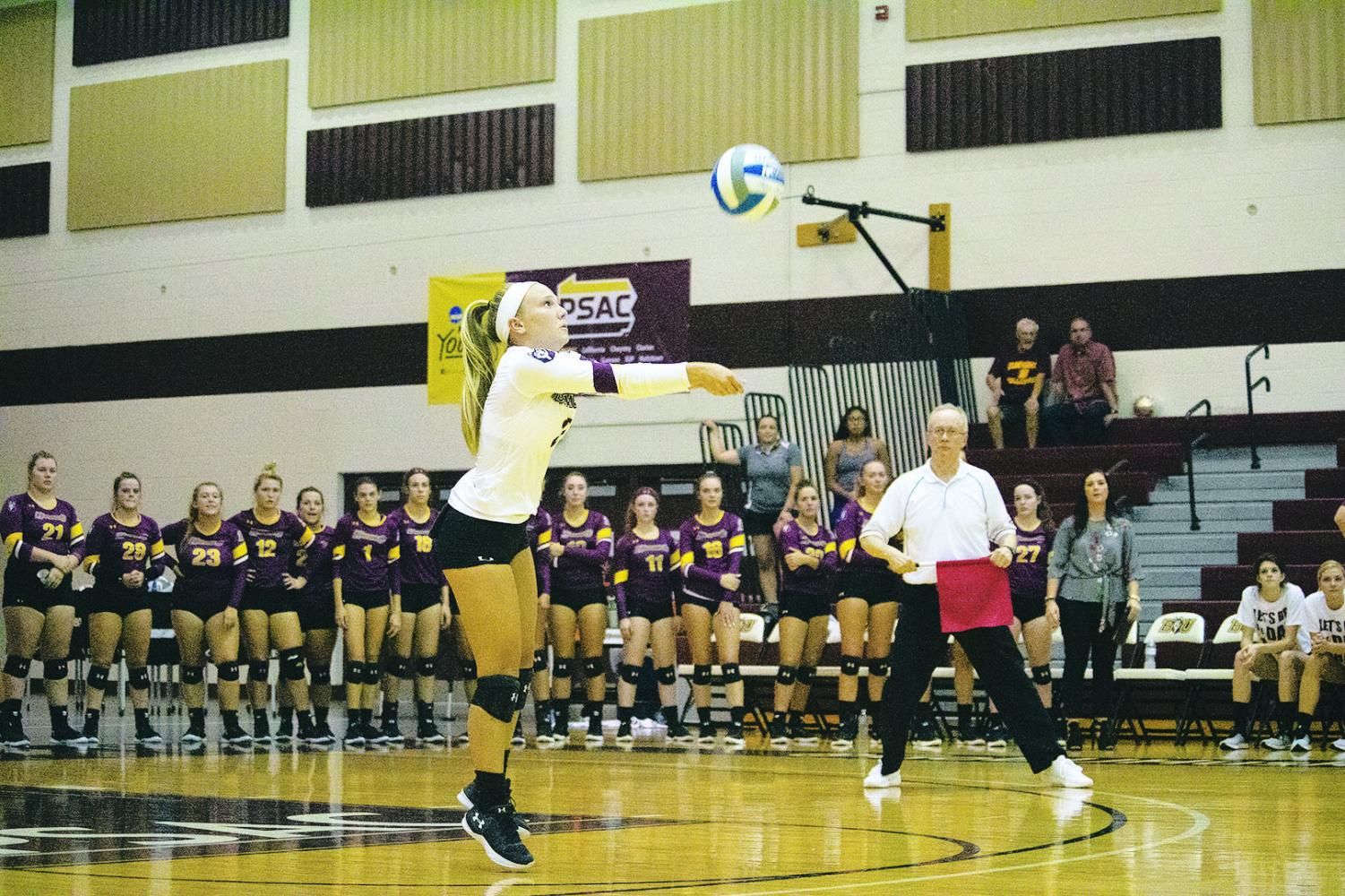 Alyssa Cianciulli (pictured above) set a new school record in digs in the Huskies win over Felician this past Friday.