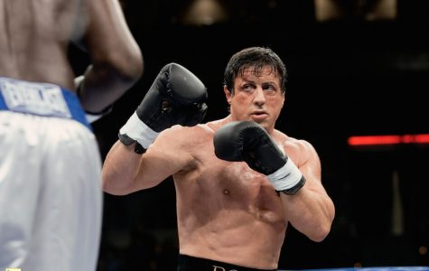 Sylvester Stallone, as Rocky, in well known boxing scene.