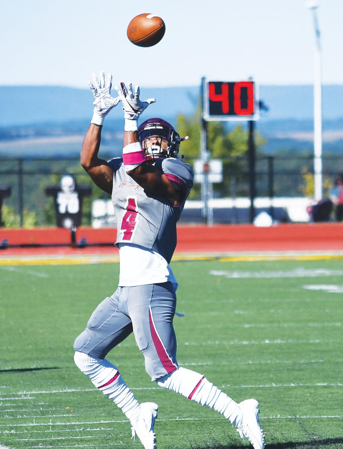 Senior receiver Michael Allen (above) leads the Huskies in both receptions and receiving yards.