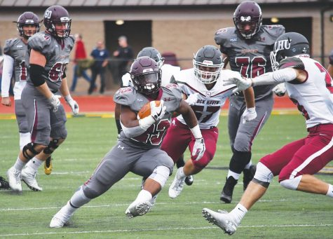 Redshirt sophomore Khalil Nelson rushed for 78 yards last time out against Millersville. Nelson has tallied 511 total rushing yards for the season.