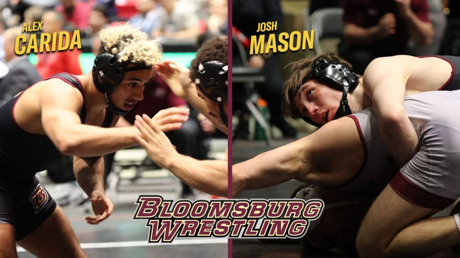 Redshirt sophomore Josh Mason and junior Alex Carida serve as the two stand-out wrestlers of the team. PHOTO: David Leisering Sports Information
