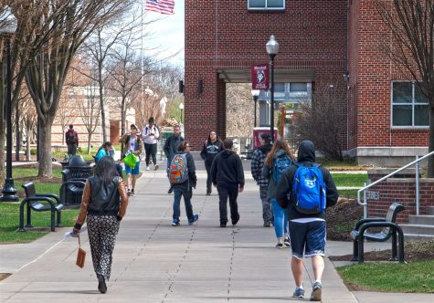 Bloomsburg students will return to walking alongside the quad to in-person instruction, Fall 2021.