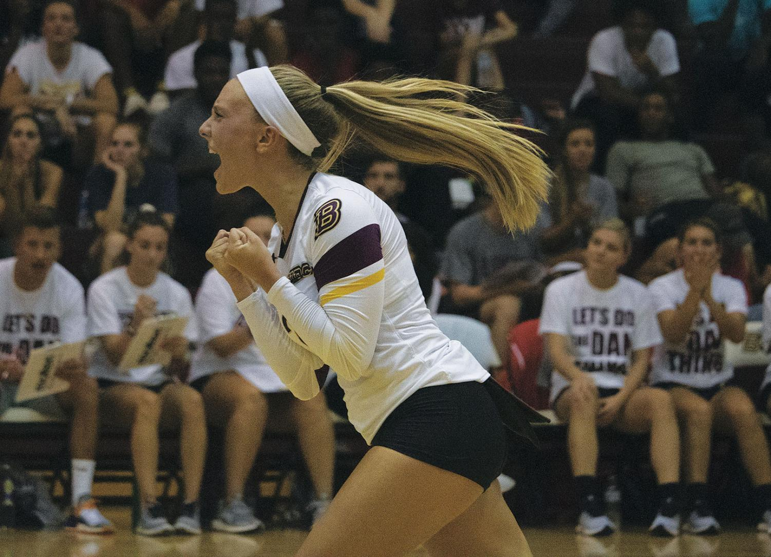 Junior defensive specialist Alyssa Cianciulli (above) rejoins the Huskies after leading the team in digs with 645 in the 2018 season.