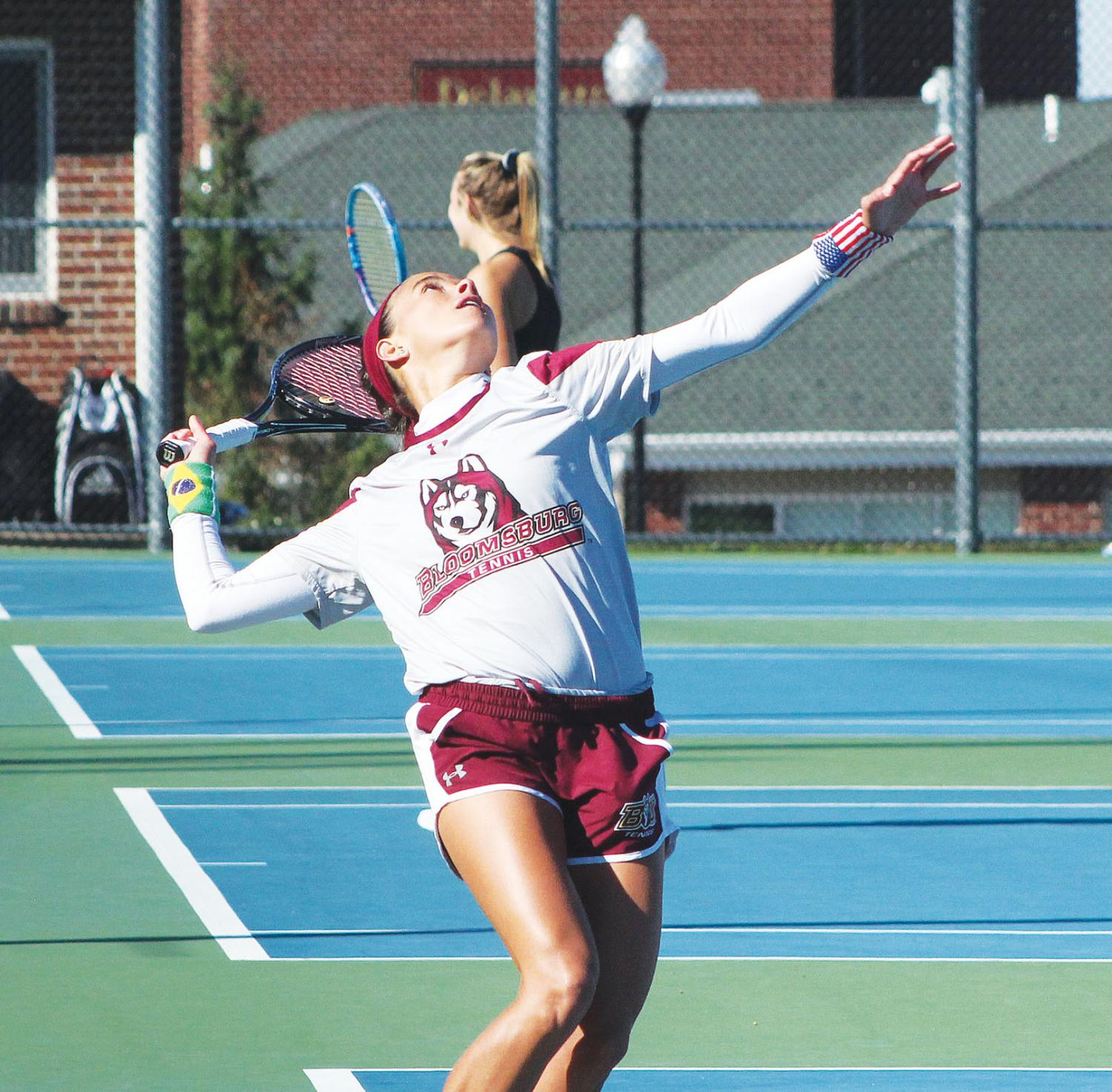 The women's tennis team will play again at home this Friday against Clarion University.